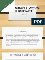 Planeamiento y Control de Inventario