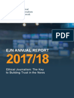 Ethical Journalism Network Annual Report 2017/18