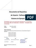 Documento de Requisitos - Ejemplo