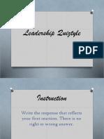 Leadership Quiz