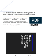 the effectiveness of the multi tiered systems of support  mtss  in brandon elementary schools  1