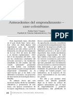 Antecedentes Del Emprendimiento Colombiano