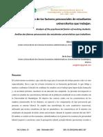Analisis De Los Factores Psicosociales De Estudiantes