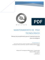 00 - Manual Procedimiento Mantenimiento