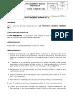 Hse-02-19 Procedimiento Accion Preventiva