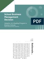 school business management decision