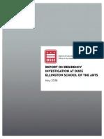OSSE Residency Investigation Report FINAL