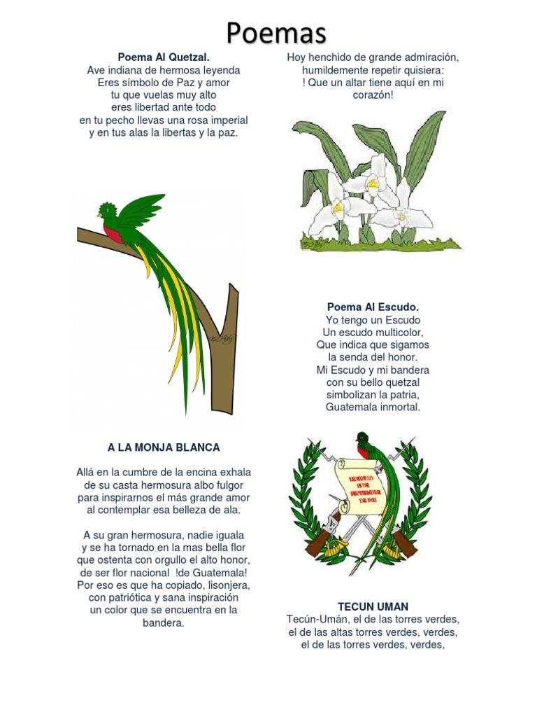 Poema Dedicado Al Escudo Nacional De Guatemala