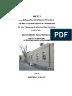 ANEXO II Pliego de Especificaciones Tenicas Particulares