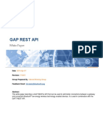 Gap Rest API Doc