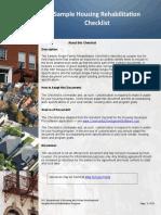 Housing Rehabilitation Checklist