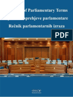 Glossary of Parliamentary Terms, OSCE