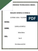 Cristian Pumacuro Modelacion Matematica Para Motores DC-1
