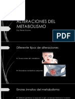 Alteraciones Del Metabolismo