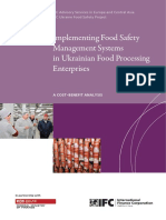 Ukranian Food Safety Cost Benefit Analysis