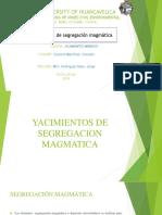 Yacimientos de Segrgacion Magmatica