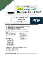 11. Bank Soal Cabang Matematika 7 SMP (Transformasi)