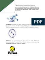 Instituciones Especializadas en Discapacidad en Guatemala