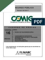 Caderno 16 - CEMIG 03 - Tecnico de Telecomunicacoes I-20180423-145535