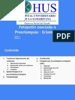 Fetopatía Asociada a Preeclampsia - Eclampsia