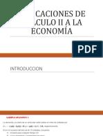 Aplicaciones de Cálculo II a La Economía