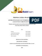 Proposal Kerja Praktek PTBA