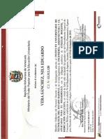 Certificado de Personal Ordinario