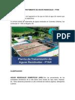 PLANTA DE TRATAMIENTO DE AGUAS RESIDUALES – PTAR