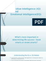 Cognitive Intelligence (IQ)and Emotional Intelligence(EQ)