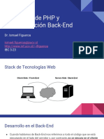 Nociones de PHP y Programación Back End