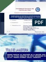 Auditoria de La Iep Manuel Coveñas Diapositivas Docx