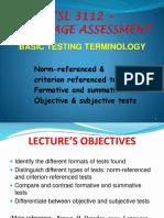Basic Testing Terminology