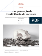 A comprovação da insuficiência de recursos | JOTA.pdf