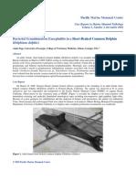 Bacterial Granulomatous Encephalitis in a Short-Beaked Common Dolphin