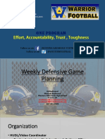 Weekly Defensive Game Planning Ppt