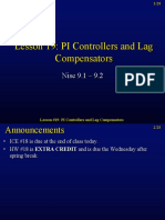 Lesson 19 PI Controllers and Lag Compensators-1