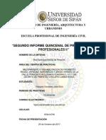 Segundo Informe Quinsenal.