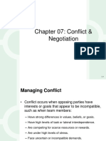 Conflict & Negotiations