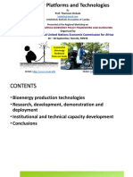 Bioenergy Platforms and Technologies FINAL
