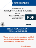 Yield and Revenue Mgmt