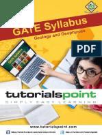 Gate Geology and Geophysics Syllabus