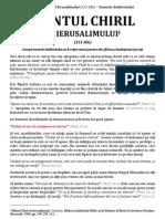 Sf. Chiril Al Ierusalimului - Semnele Lui Antihrist