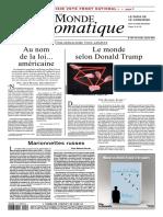 Le Monde Diplomatique 2017 01