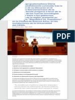 El Manual del Populista según Gloria Alvarez