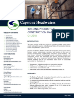 Capstone Headwaters Building Products & Construction Materials M&a Coverage Report_Q1 2018