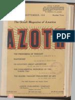Azoth, September 1918