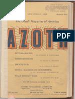 + Azoth, November 1918
