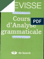 Grevisse-cours Analyse Gram