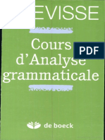 Grevisse-cours Analyse Gram