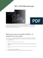 Gráficos PERT y CPM Diferencias Que Funcionan